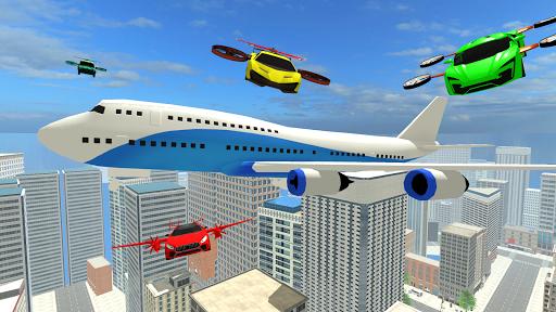 Real Light Flying Car Racing Simulator Games 2020 screenshot 5