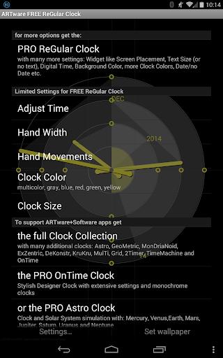 ReGular Clock Live Wallpaper 4 تصوير الشاشة