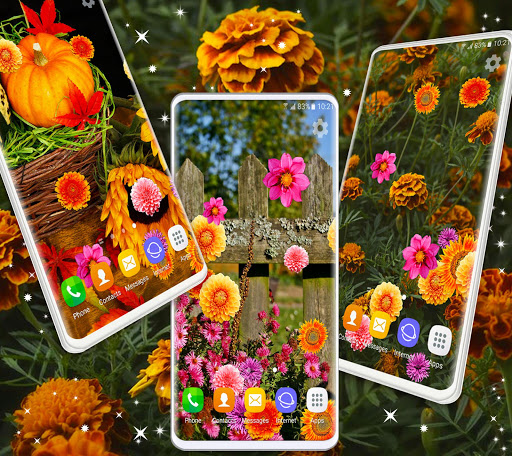 Autumn Flowers 4K Live Wallpaper ❤️ Forest Themes скриншот 5
