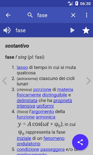 Italian Dictionary - Offline 1 تصوير الشاشة