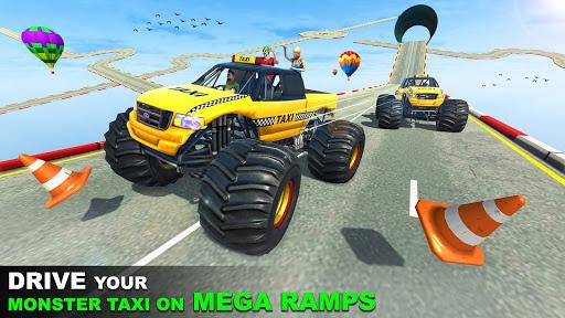 Grand Taxi Monster Truck Driving Stunt Racing Game screenshot 3