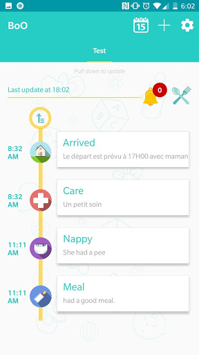 Boo Parents - Real time childcare with nanny screenshot 2