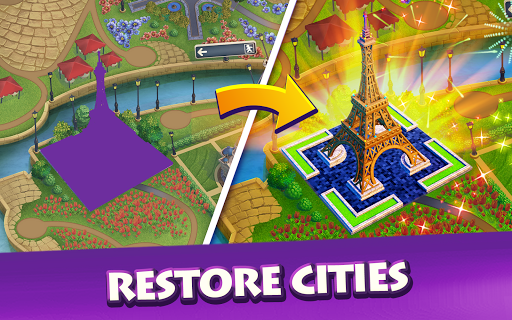 Gummy Drop! Match to restore and build cities screenshot 7