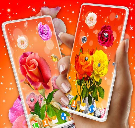 Diamond Rose Live Wallpaper ❤️ Shine HD Wallpapers 2 تصوير الشاشة