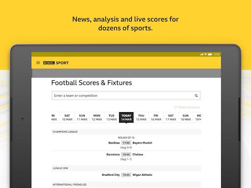 BBC Sport - News & Live Scores 15 تصوير الشاشة