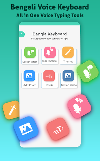 Bengali Voice Typing Keyboard–Bangla Text on photo 2 تصوير الشاشة