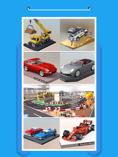 Pocket World 3D - Assemble models unique puzzle screenshot 11