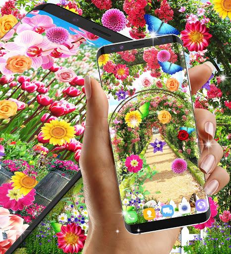 Flower garden live wallpaper 6 تصوير الشاشة