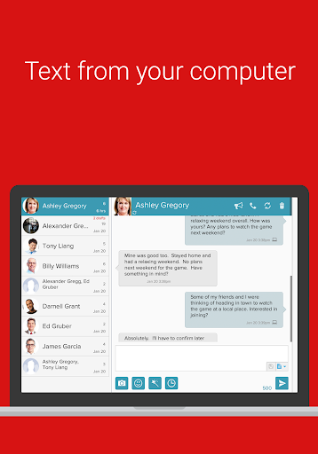 SMS from PC / Tablet & Sync Text from Computer screenshot 2