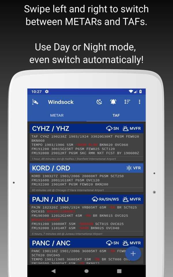 Windsock - Automatic METAR/TAF screenshot 8