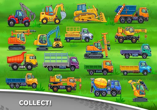 बच्चों के लिए ट्रक गेम - घर की इमारत  कार धोने स्क्रीनशॉट 21