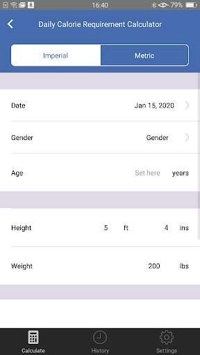 Weight Calorie Watch screenshot 3