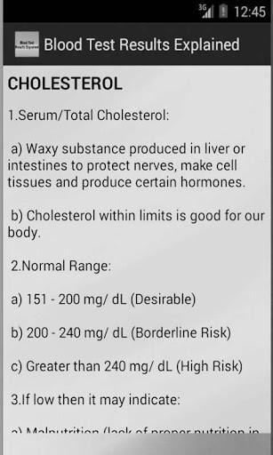 Blood Test Results 3 تصوير الشاشة