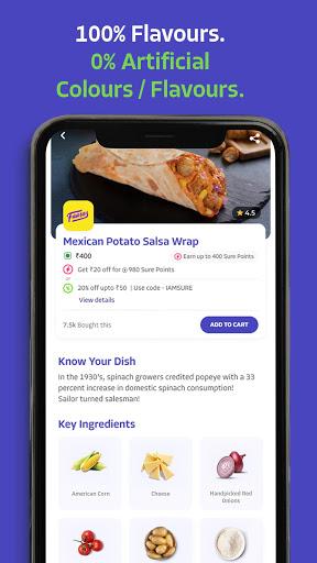 EatSure - Order Food Online & Food Delivery 4 تصوير الشاشة