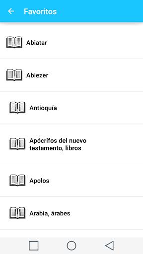 Spanish Bible Dictionary 6 تصوير الشاشة