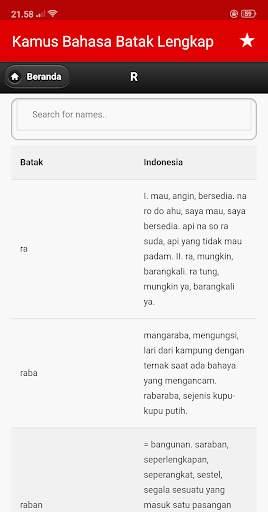 Kamus Bahasa Batak Indonesia Lengkap screenshot 13