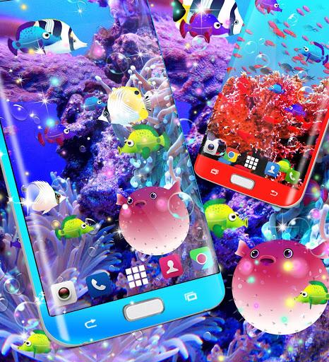 الأسماك خلفية حية 3 تصوير الشاشة