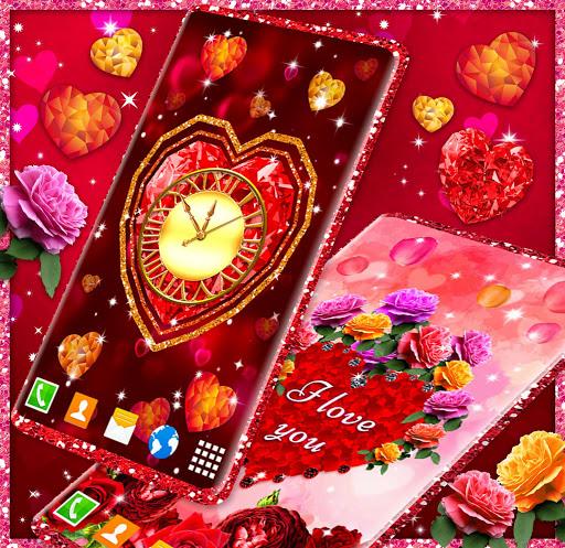 Diamond Hearts Live Wallpaper 💎 Love 4K Wallpaper 3 تصوير الشاشة