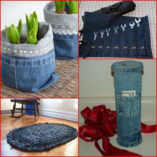 Recycled Jeans Craft Ideas screenshot 6