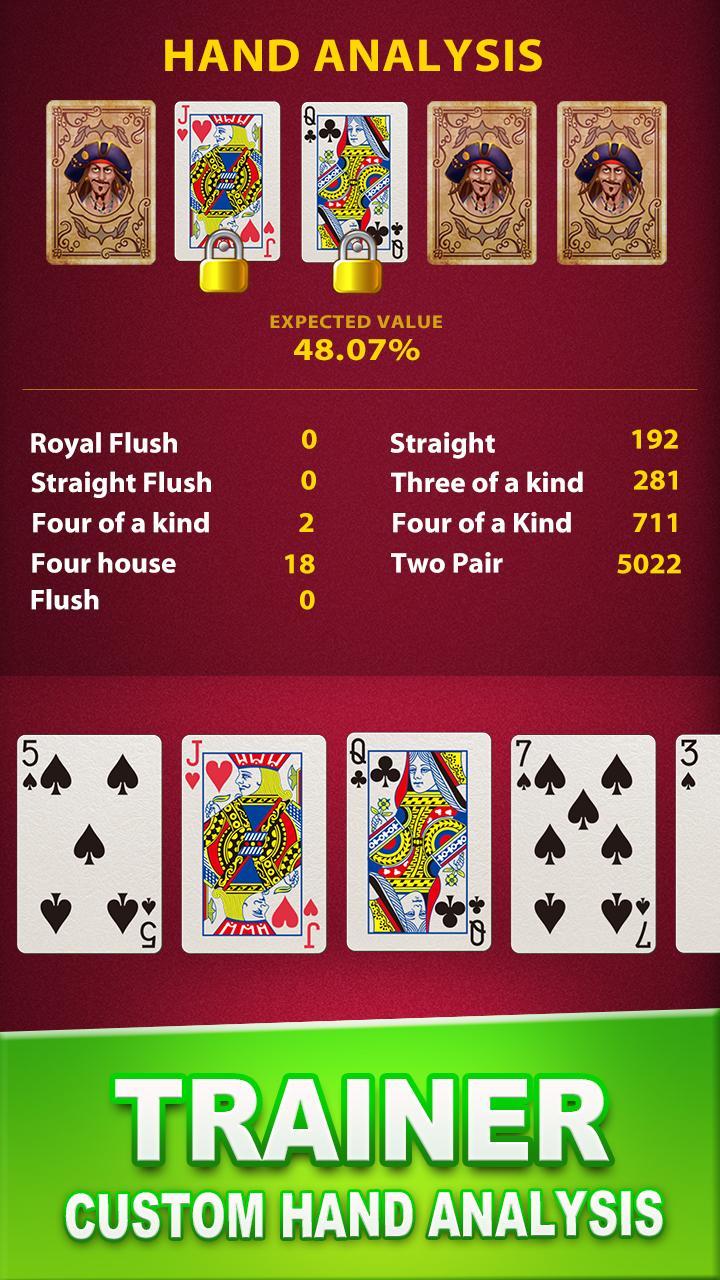 Video  Poker Trainer 4 تصوير الشاشة