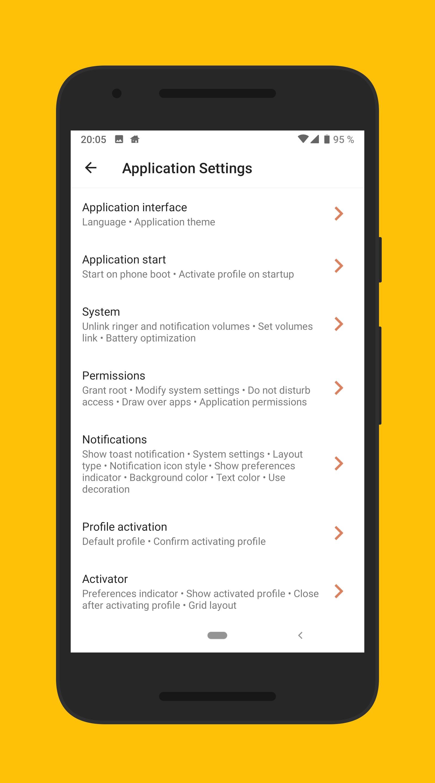 Phone Profiles 4 تصوير الشاشة