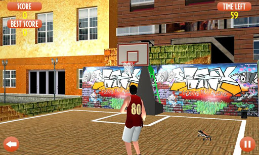 Flick Basketball shooting arcade game - Dunk game 3 تصوير الشاشة