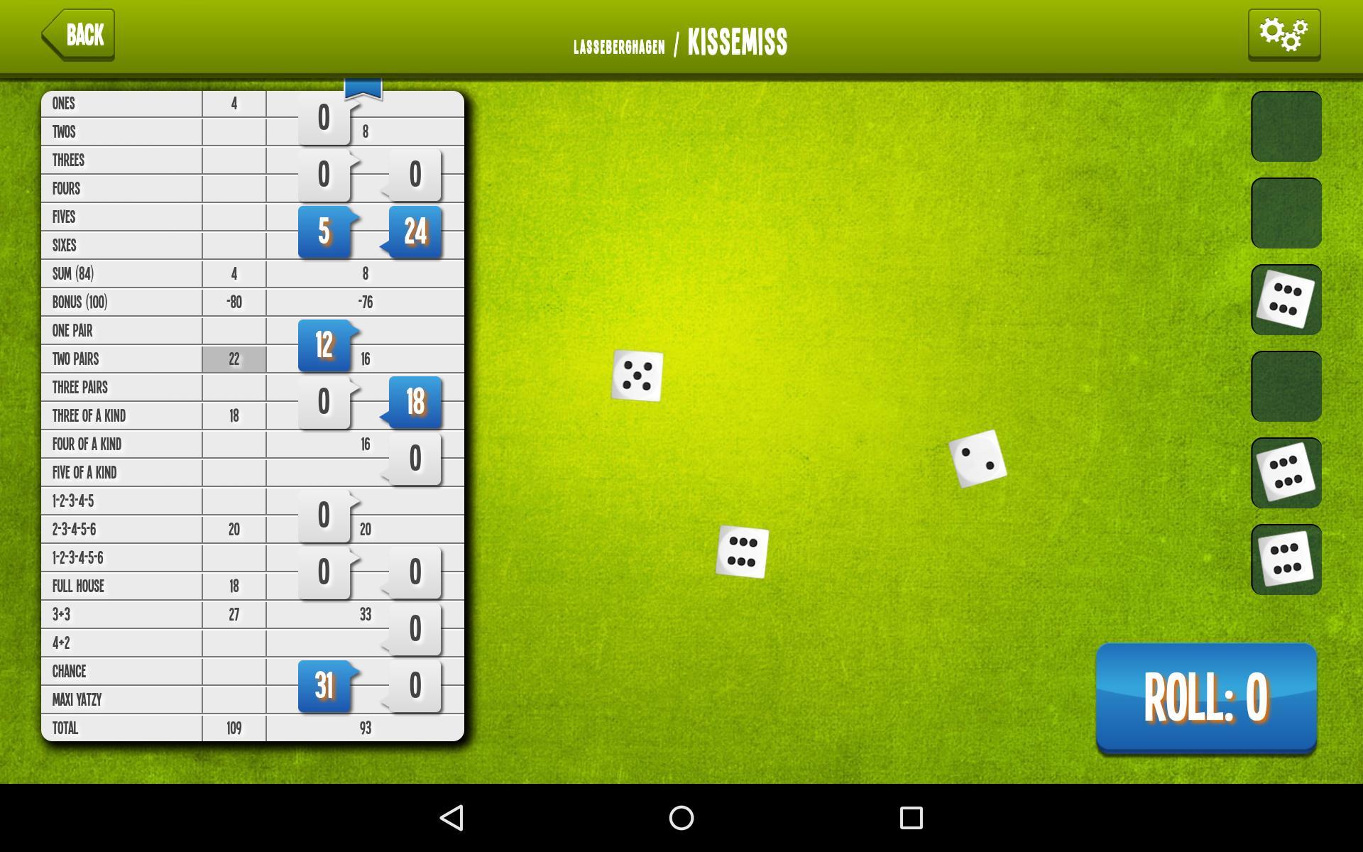 Yatzy Online screenshot 8