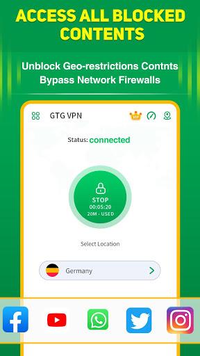 GTG VPN Fast Free Proxy screenshot 1