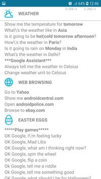 OK Google Commands (Helper) screenshot 2