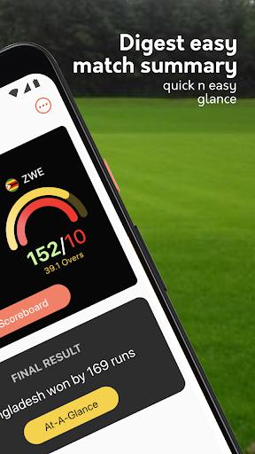 Live cricket scores, unique cricket app cricsmith 3 تصوير الشاشة
