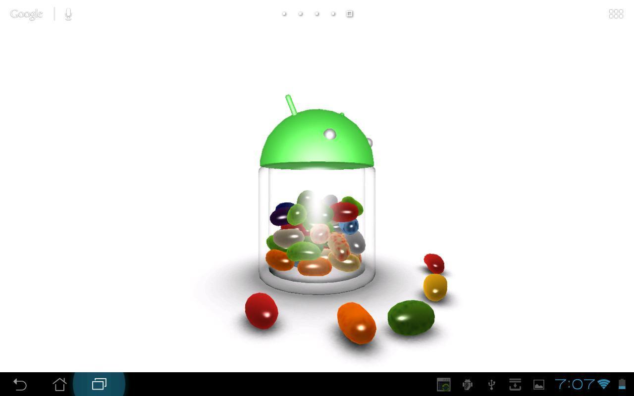 3D Jelly Bean Live Wallpaper screenshot 3
