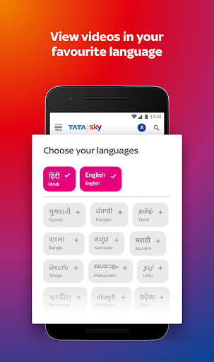 Tata Sky Mobile- Live TV, Movies, Sports, Recharge 1 تصوير الشاشة