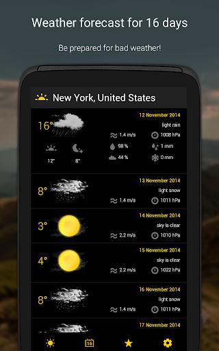 الطقس لمدة 16 يوما 13 تصوير الشاشة