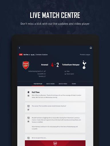 Arsenal Official App 11 تصوير الشاشة