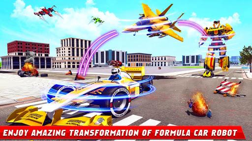 Formula Car Robot Games - Air Jet Robot Transform screenshot 8