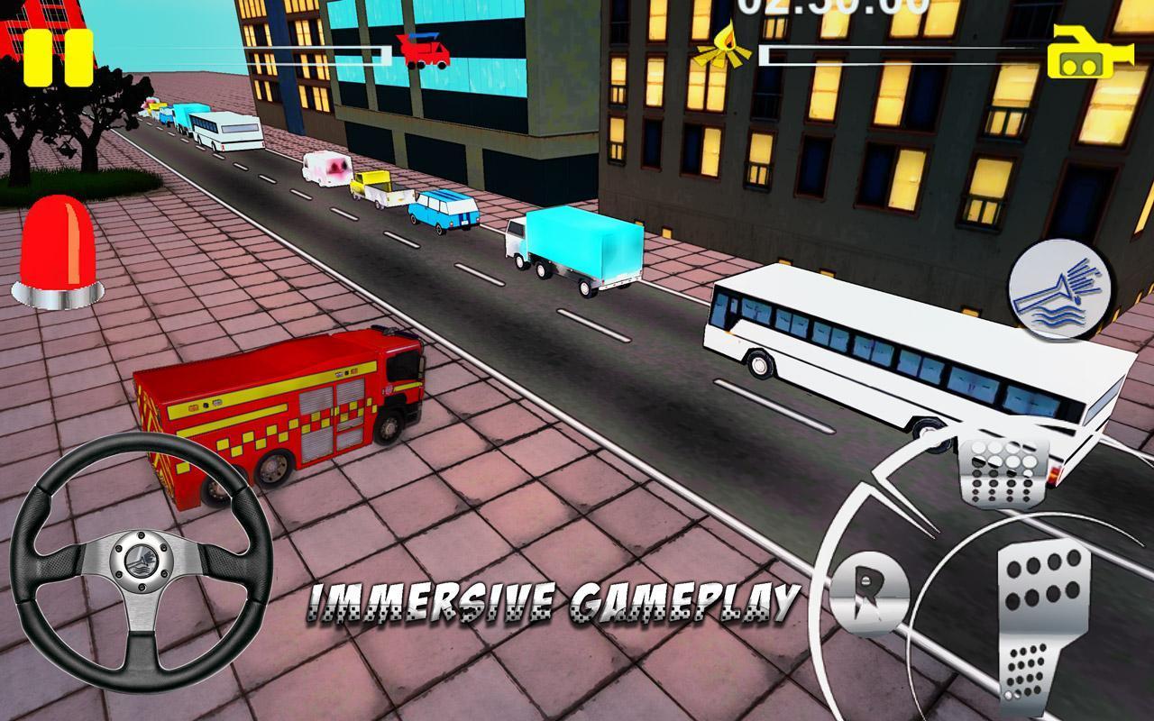 Firefighter-Fire Brigade Truck screenshot 2