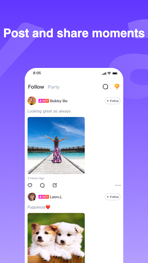Haya - Group Voice Chat App screenshot 4
