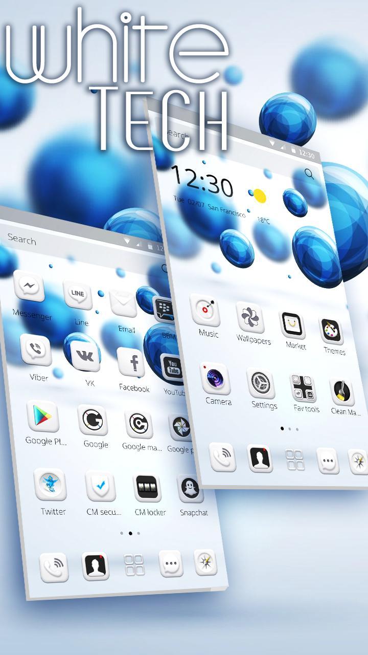 White Tech Theme  Wallpaper screenshot 1
