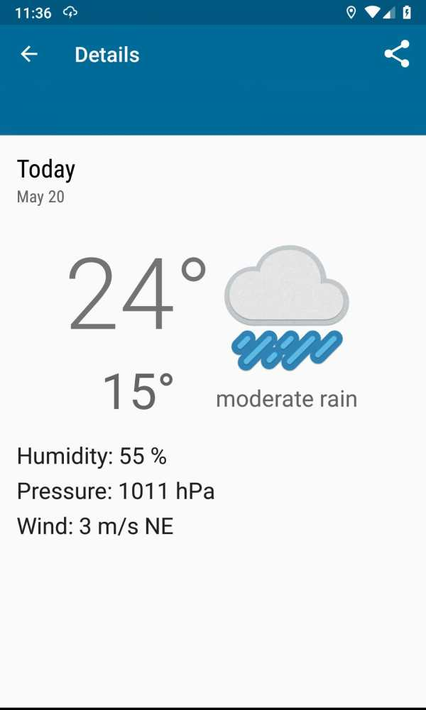 Weather forecast, thunderstorm, clouds, rain maps. screenshot 2
