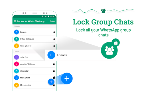 Locker for Whats Chat App - Secure Private Chat स्क्रीनशॉट 9
