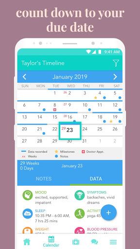 Ovia Pregnancy Tracker: Baby Due Date Countdown 4 تصوير الشاشة