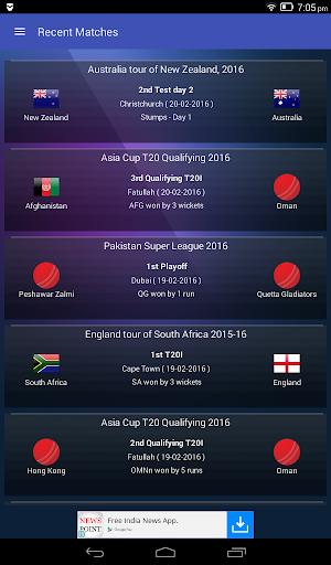 Live Cricket Scores & Updates -Total Cricinfo 10 تصوير الشاشة