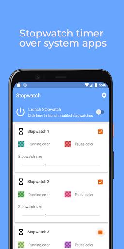 Stopwatch: floating multitasking timer screenshot 3