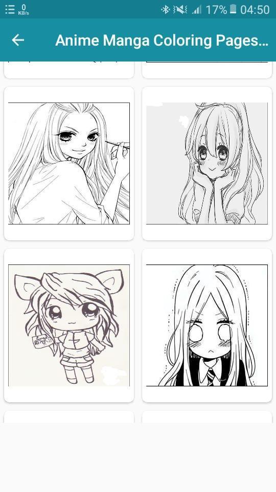 Anime Manga Coloring Pages Book screenshot 4