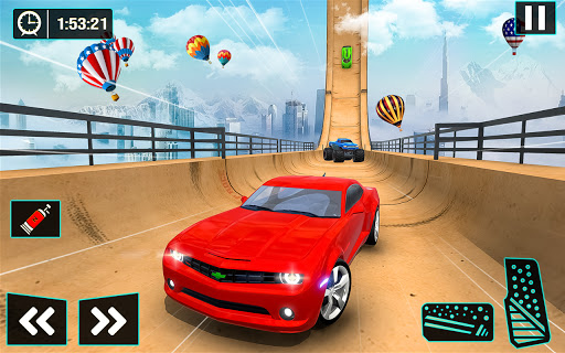 Ramp Car Stunt Jumping-Top Speed Mega Ramp Racing 3 تصوير الشاشة
