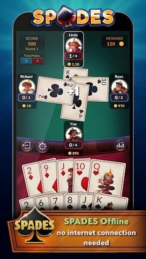 Spades - Offline Free Card Games screenshot 2