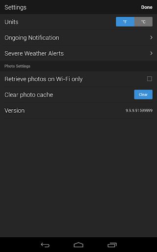 Yahoo Weather 11 تصوير الشاشة