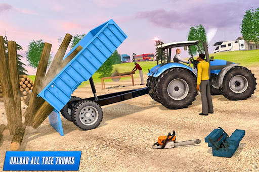 Drive Tractor trolley Offroad Cargo- Free 3D Games screenshot 2