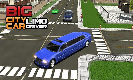 Big City Limo Car Driving Simulator : Taxi Driving 4 تصوير الشاشة