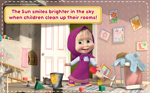 Masha and the Bear: House Cleaning Games for Girls screenshot 11